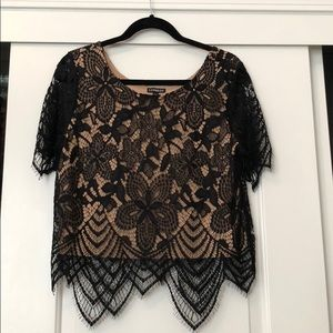 lace over lay top